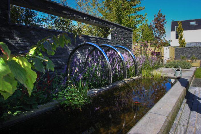 Design tuin waterelement vijver